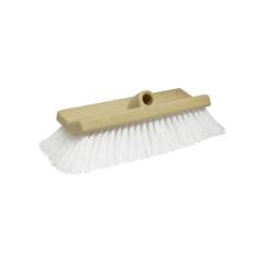 White Bi-Level Coarse Bristle Wash Brush
