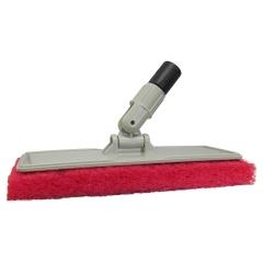 Star Brite 040124 Flexible Head Scrubber with Red Scrub Pad - Medium