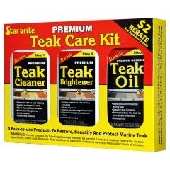 Star Brite 81216 3 Pint Premium Teak Care Kit