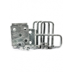 Axle Tie Plate Kit For 2 In Square Tube